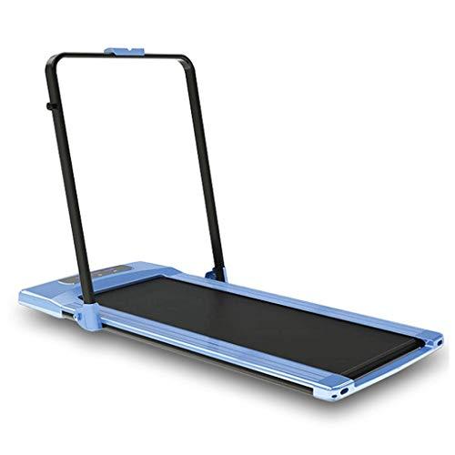 Flat Loopband Vouwen Loopband Indoor Silent Rollator Elektrische Loopband Met Leuningen Sportartikelen, Lager Ongeveer 110kg (Color : Blue, Size : 145 * 71 * 145cm)