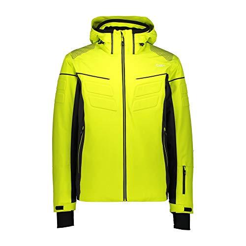 CMP Chaqueta elástica de esquí con capucha desmontable., Hombre, 30W0297, Zolfo, 48