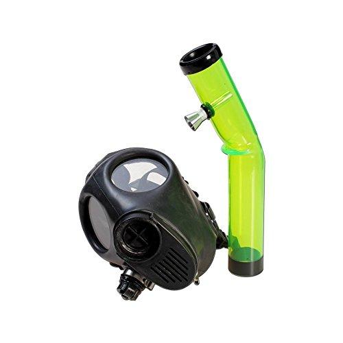 Gasmaske mit Bong - L 250mm Ø 40mm