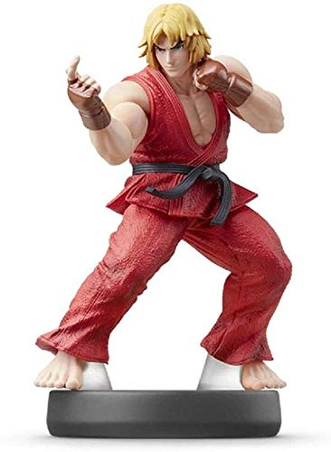 Byrhgood Super Smash Bros. Amiibo: Ken Figurine!Super Smash Bros. Action Figure della Serie di Gioco Masterpiece Figura raccoglibile da Giappone Import (Wii U / 3DS / Switch)
