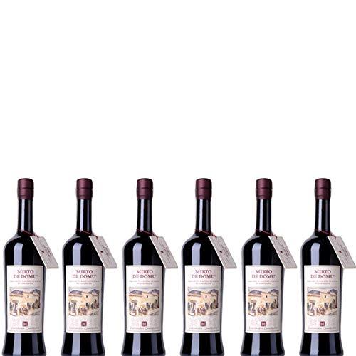 6 bottiglie per 0,70l -MIRTO DE DOMU - LIQUORE DI BACCHE DI MIRTO DI SARDEGNA (BOTTIGLIA 70 CL)