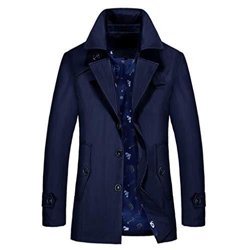 Coat Mannen Trench, Double Breasted Pea Coat Long Jacket Slim Fit lange mouwen Casual Lightweight Jacket Parka trenchcoats Blazer Jassen