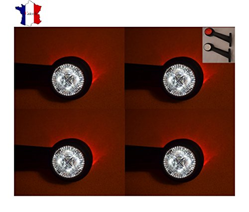 4 X 12V 8SMD LED FEUX DE GABARIT ET SIGNALISATION CAMION REMORQUE BUS SHASSIS
