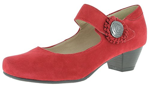 HIRSCHKOGEL Damen Pumps 3002710 Trachtenschuhe | Oktoberfestschuhe | Dirndlschuhe| Schuhe zum Drindl | Schuhe zur Lederhose | Pumps zur Jeans, Farbe:rot, Größe:36 EU