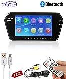 FABTEC Car 7 Inch Full HD LCD Mirror Link Bluetooth Screen with USB,Memory
