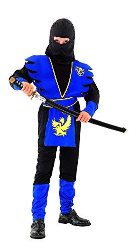 DEGUISE TOI - Déguisement Ninja Bleu garçon - L 10-12 Ans (130-140 cm)