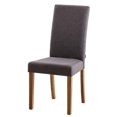 Rugleuning fauteuil houten stoel creatieve computer stoel moderne minimalistische stoel studie thuis make-up kruk stoel (Color : Gray, Size : 43 * 40 * 99cm)