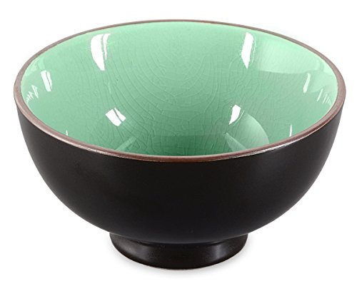 Matcha-Schale/Matcha Teeschale Craquelé-Muster, 250ml moos-grün, Original Aricola®