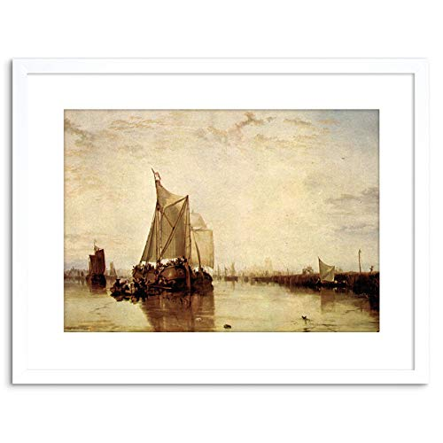 Wee blauwe Coo schilderij TURNER boot ROTTERDAM oude MASTER FRAMED foto ART PRINT F97X9549