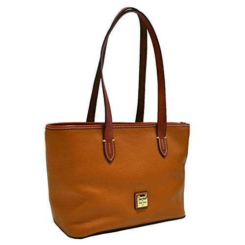 Shoulder Tote Pebble Leather Approximate Dimensions in inches : L15 x H9 x W5 Zip closure 1 Exterior Slip Pocket, 1 Interior Zip Pocket, 2 Interior Slip Pockets