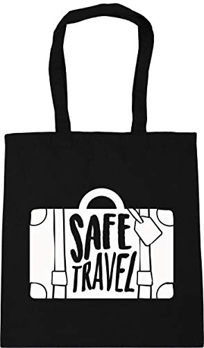 Hippowarehouse Safe Travel Tote Shopping Gym Beach Bag 42cm x38cm, 10 litres