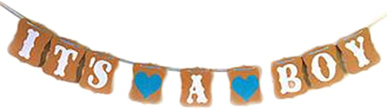 "Bullidea ""IT'S A BOY"" Hen Party Bunting Banner Decoration Photo Prop Wedding Flag"