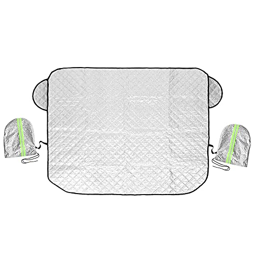 X AUTOHAUX Autoscheibenabdeckung Frontscheibenabdeckung Sonnenschutz frontscheibe Windschutzscheibe autoabdeckung mit 5 Magnet Schutz für Auto 142x92cm