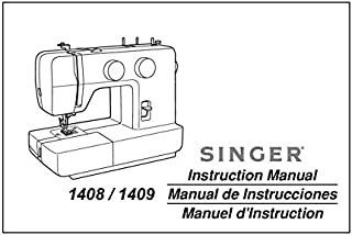 Singer 1408-1409 Sewing Machine/Embroidery/Serger Owners Manual Reprint [Plastic Comb]