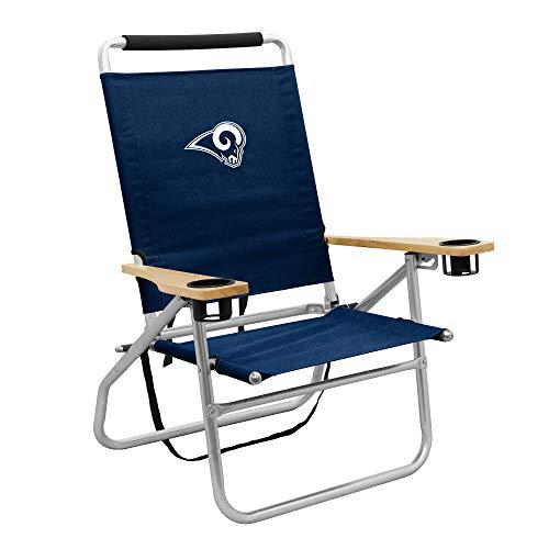 logobrands LA Rams Seaside Beach Chair, Navy, One Siz