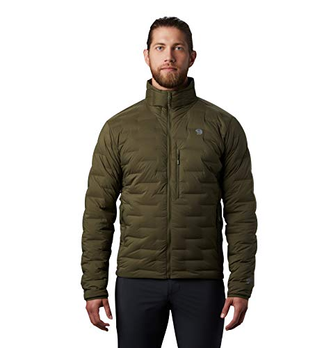Mountain Hardwear Super/DS Men's Insulated Jacket for Hiking, Camping, Climbing and Everyday - Dark Army - X-Large