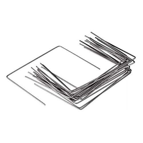 Lot de 100 Agrafes de Fixation Métal pour Toile de paillage ou geotextile avec Pointes biseautées 20cmX20cmX20cm