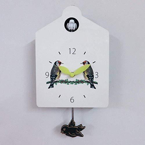 GaoF Reloj de Cuco Casita para pájaros Grande, Llamativo diseño de casita para pájaros pequeña Sala de Estar Familiar única Hotel Jardín Decoración artística