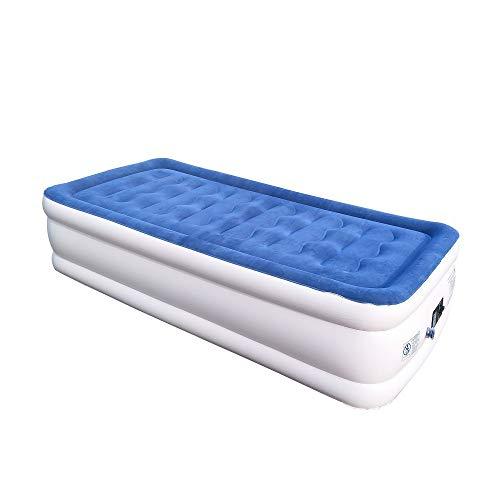 Eenpersoons opblaasbare matras PVC dikker Flocking Air Bed Outdoor Auto Reizen Camping Matras, 200x99x46cm CIM0929 A