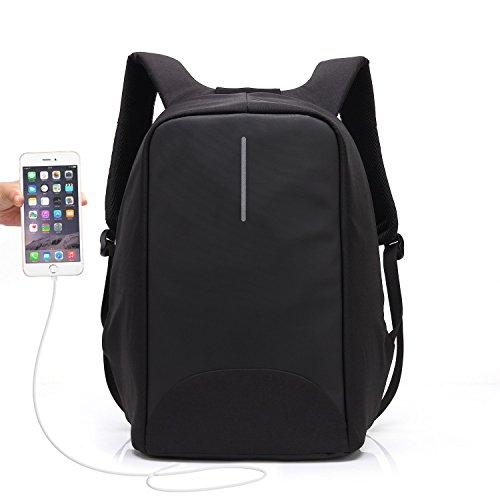 UBAYMAX Zaino Antifurto Uomo Donna per PC con Porta USB,Zaino Smart Backpack da Lavoro per Viaggio,Zaino Nero per Laptop 15.6,Borsa Portatile Impermeabile per Scuola Business Affair Tattico Ufficio