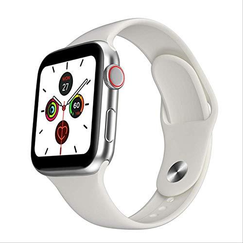 Smartwatch,Reloj Inteligente , Hombre 1.54 Pulgadas Full Touch HD Todo El Día Pantalla Brillante Monitor De Frecuencia Cardíaca para iOS Android Teléfono Smartwatch China Blanco