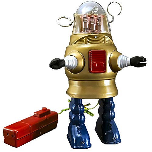 TR2051 REMOTE CONTROL PISTON ACTION ROBOT (PUG ROBBY) - reproduction of Nomura Japan Toy (Gold) by HwaStudio