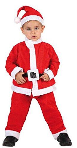 Atosa-69210 Disfraz Papá Noel Niño Infantil, color rojo, 3 a 4 años (69210)