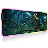 Haunted Zyra Razer RGB Gaming Mouse Pads XXL Large LED Mouse Mat with Backlit Keyboard Desk Mat 31.5 inch X 11.8 inch X0.16 inch