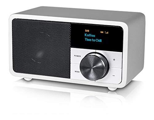 Kathrein DAB+1mini silber, DAB+/UKW-Radio mit OLED-Display für stationären und mobilen Einsatz inkl. Bluetooth, 1, DAB+1MINISILBER