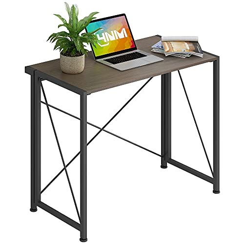 4NM No-Assembly Folding Desk Small Computer Desk Laptop Table