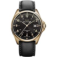 Glycine Combat Classic Men's Analog Automatic Watch with Leather Bracelet