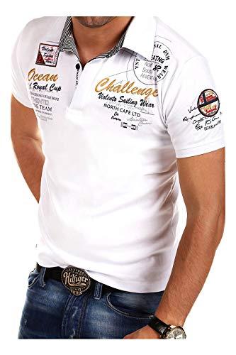 MT Styles Poloshirt Challenge T-Shirt R-2728 [Weiß, XXL]