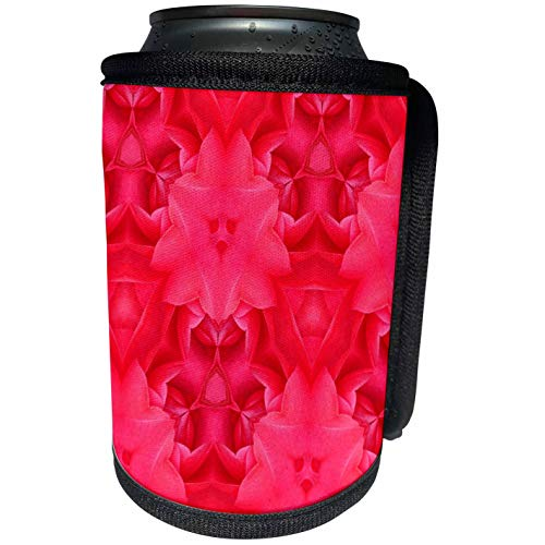 3dRose Lee Hiller Designs Kaleidoscope - Kaleidoscope Dark Pink Camilia - Can Cooler Bottle Wrap (cc_5815_1)