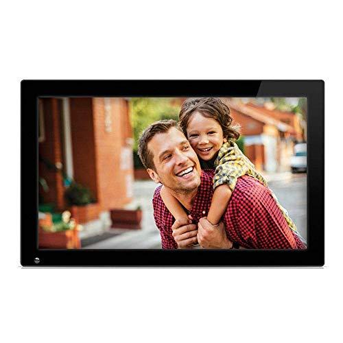 Marco de fotos digital HD Pantalla grande de 21.5 pulgadas Marco de fotos digital 1920 * 1080 píxeles Pantalla LED de alta resolución Pantalla LED USB y ranuras para tarjeta SD Black Touch Sensor de r