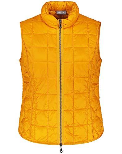 Samoon Damen 340001-21622 Outdoor Weste, Gelb (Butterscotch 4010), (Herstellergröße: 44)