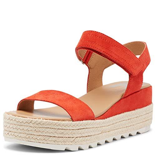 Sorel Women's Cameron Flatform Sandal - Signal Red - Size 5.5
