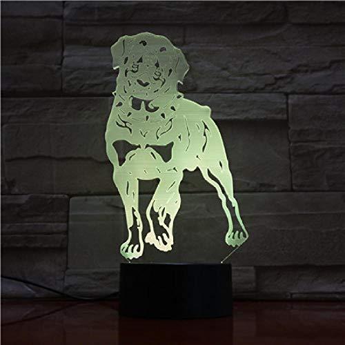 Luz De Ilusión 3D Luz De Noche Led Lindo Perro Bebé Animal Lámpara De Mesa Para Decoración Del Hogar Regalos De Navidad Regalos De Cumpleaños Para Niños Regalos De Vacaciones