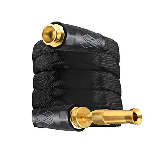 Bionic Force Pro 2535 Hose – Flexible, Lightweight Heavy-Duty Garden Hose & Spraying Nozzle Made of High Performance MXZ-7 Fiber with Crush Resistant Brass Fittings, 100
