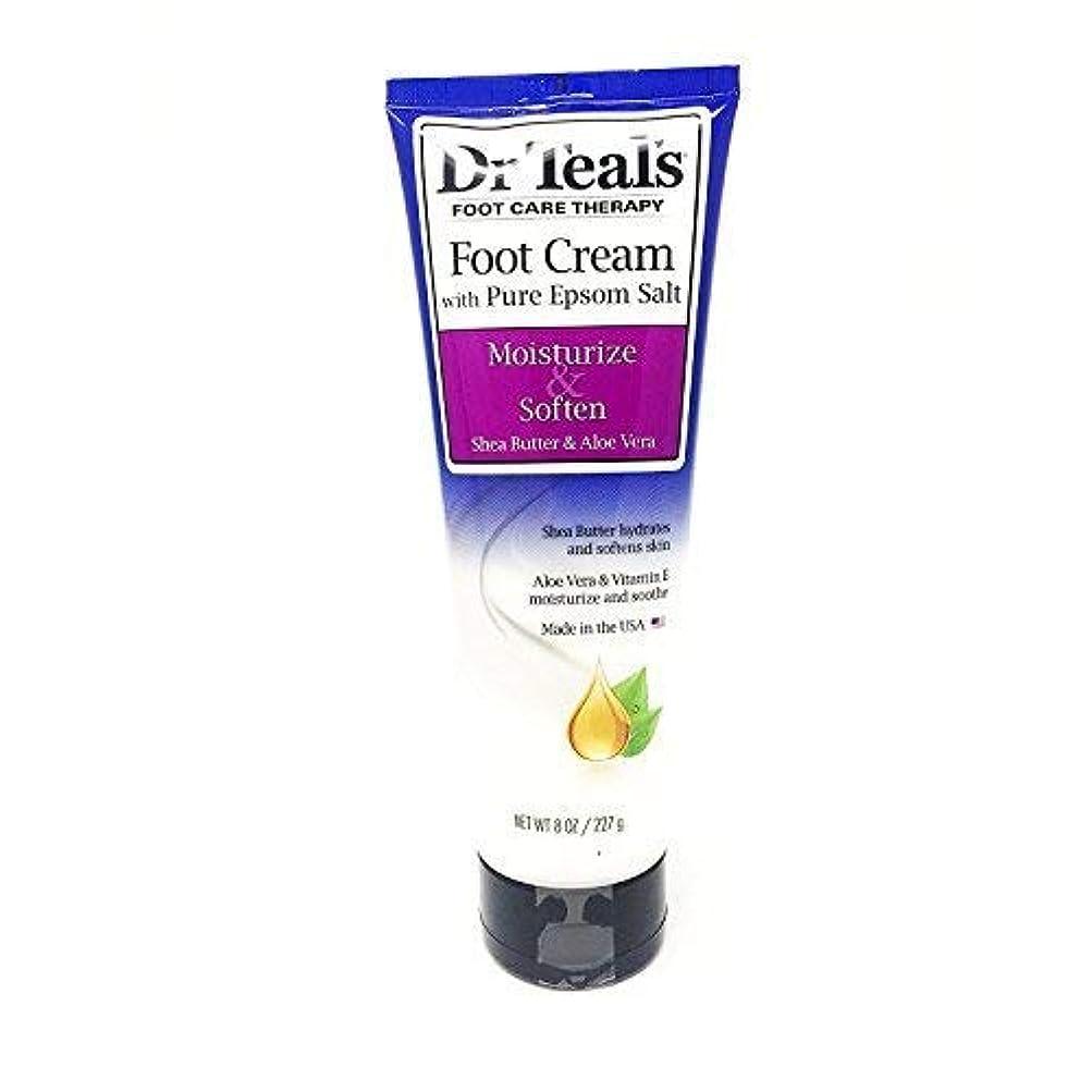 部分葉っぱ署名Dr Teal's Shea Enriched Foot Cream, 8 Oz. (Pack of 2) by Dr. Teal's