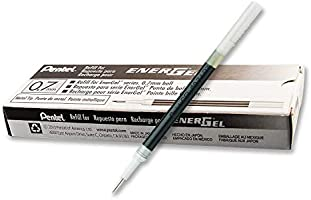 Pentel Australia LR7-A EnerGel Liquid Gel Pen Refill 0.7mm, Black Ink, Box of 12