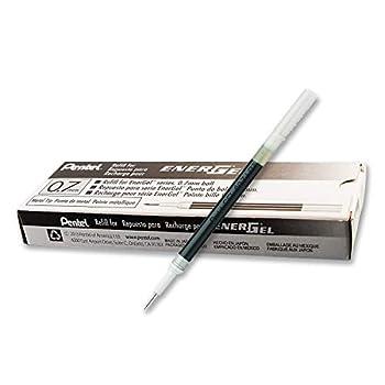 Pentel Refill Ink for BL57/BL77 EnerGel Liquid Gel Pen Box of 12 0.7mm Metal Tip Black Ink  LR7-A-12