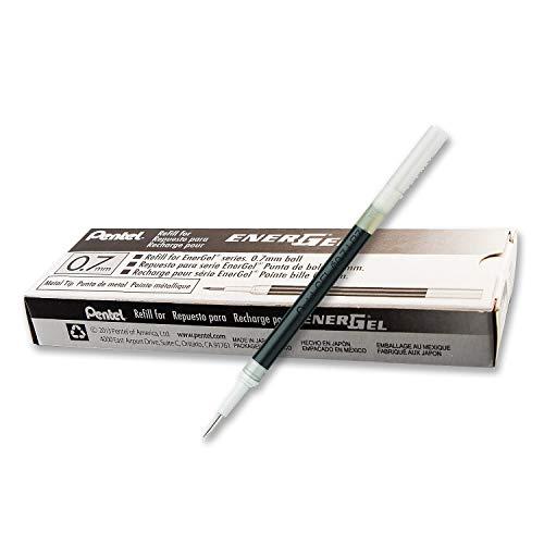 Pentel LR7 Recharges pour Rollers Energel Pentel BL57/77/107/117/407/TRL Noir - Lot de 12 1 - Pack