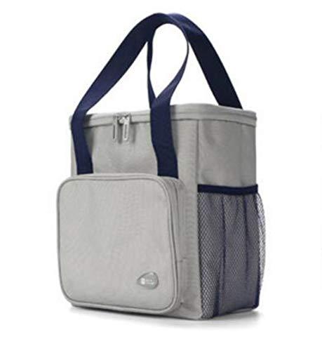 DAFREW Lunchpaket isolierte Tasche Handtasche Verdickung Mummy Reis Mittagessen Diagonale Brotdose (Color : Gray, Size : One Size)