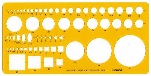 ウチダ テンプレート No.140E 建築士・受験者用定規 012-0014