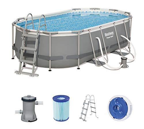 Bestway Power Steel Oval Pool Set mit Filterpumpe, 427x 250 x 100 cm
