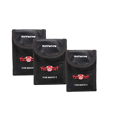 PENIVO Protección Mavic Battery LiPo Case, a Prueba de explosiones Caja de Almacenamiento Segura a Prueba de Fuego para dji Mavic 2 Pro Zoom Drone Baterías Accesorios (3 Piezas Tamaño pequeño)