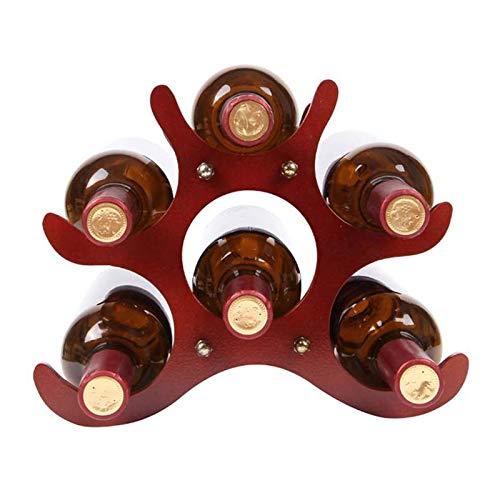 XBSJB Botellero De Madera Estante De Exhibición De Vino Creativo De Madera Maciza De Estilo Europeo Adornos De Decoración Simple para La Decoración De La Sala De Estar del Hogar del Restaurante