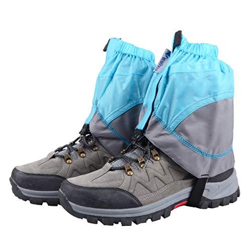 TRIWONDER Unisex wasserdichte Gamaschen, Leicht Trail Gaiters, Niedrig Gaiter für Wandern, Klettern, Jagd (1 Paar) (blau & grau)