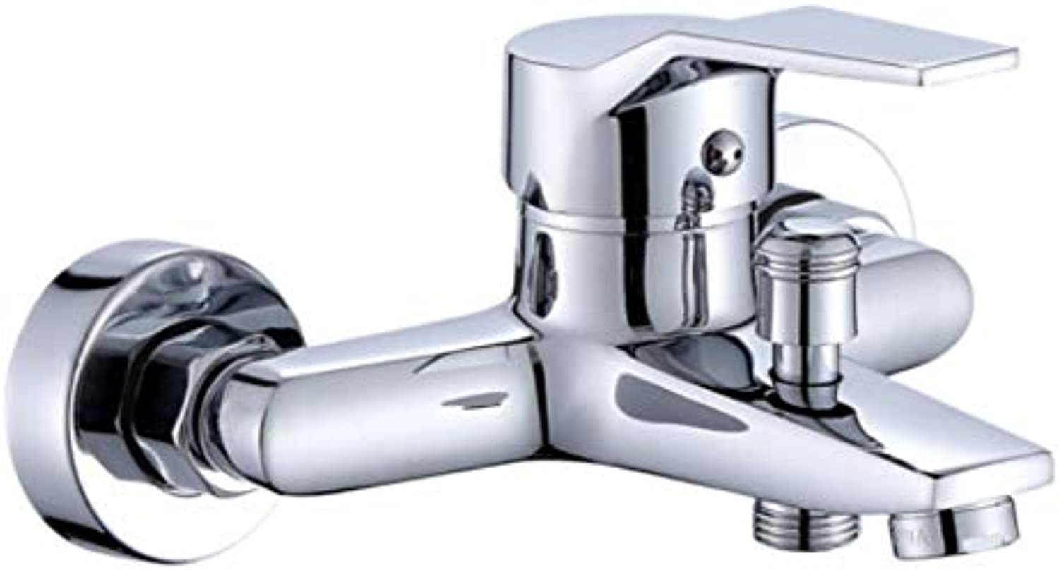 Faucet Waste Mono Spoutcopper Hot and Cold Bathroom Faucet Bathroom Mixing Valve Concealed Shower Faucet