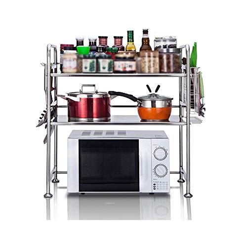 YZ Küchenregal Edelstahl-Mikrowelle Ofen Rack-Küche Storage Rack Storage Rack Würzen Rack-Küche